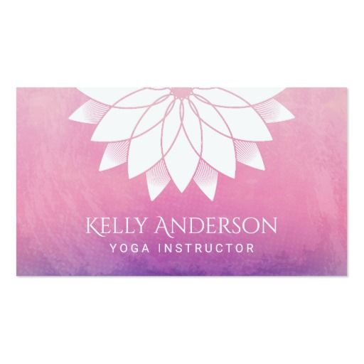 Yoga instructor modern lotus floral mandala business card lotus yoga instructor modern lotus floral mandala business card colourmoves