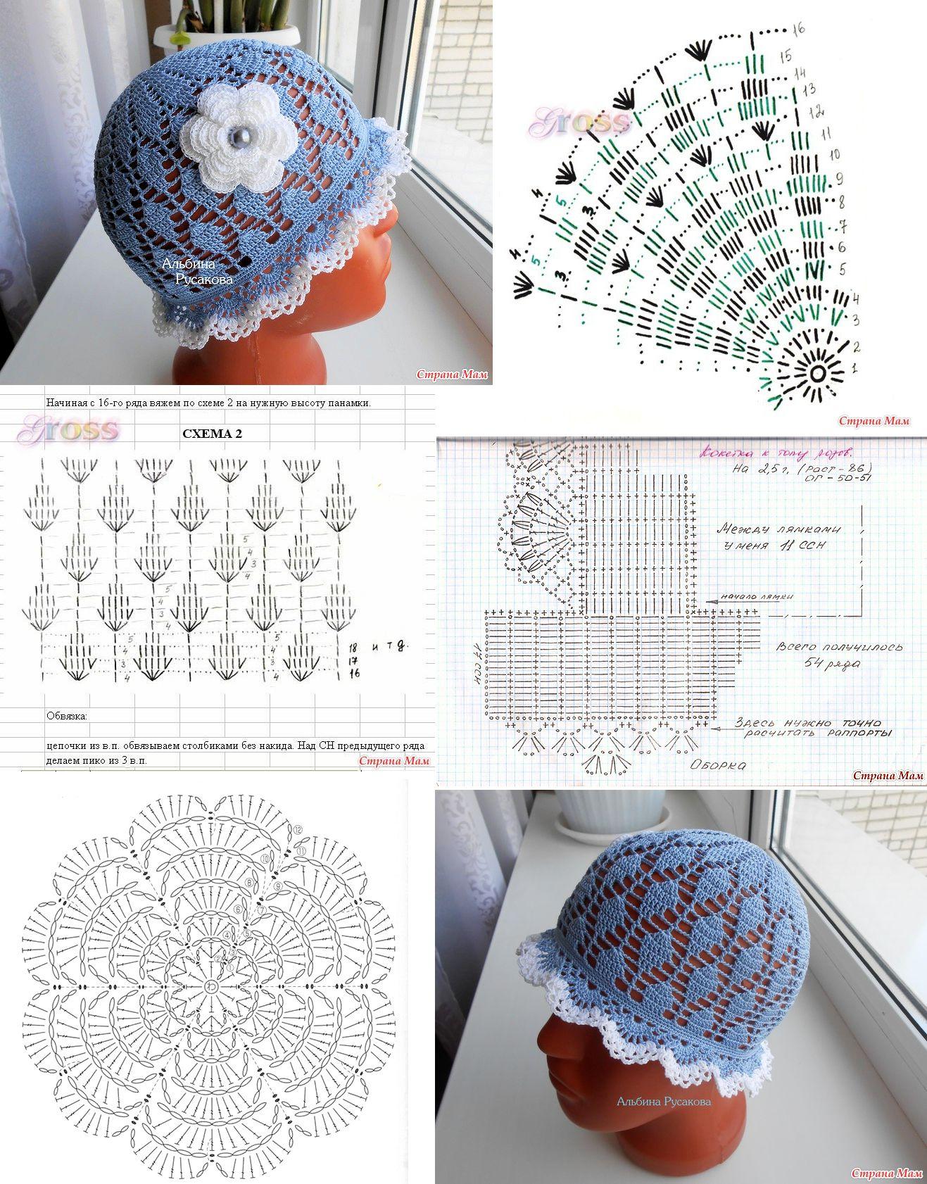 Crochet Summer Hat | Crochet Diagrams or Charts | Pinterest ...