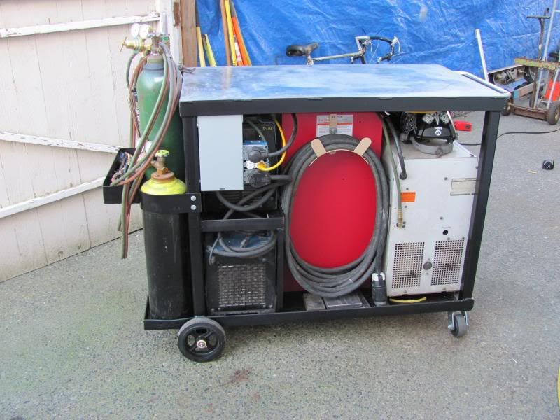 Welding Cart Tig Mig Oxy Acetylene Tool Box Tig Cooler