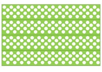 photograph regarding Printable Bulletin Board Borders identified as Eco-friendly and White Polka Dot Borders Bulletin Board Guidelines