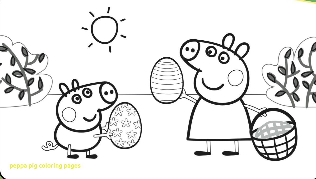 Peppa Pig Coloring Pages with Peppa Pig Coloring Pages Easter Coloringstar  | Peppa pig coloring pages, Peppa pig colouring, Easter coloring pages