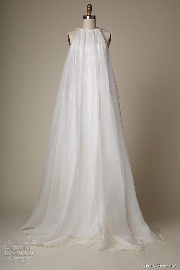 a261b18b9 della giovanna wedding dress 2015 bridal sleeveless silk organza pleated  trapeze gown alexandria