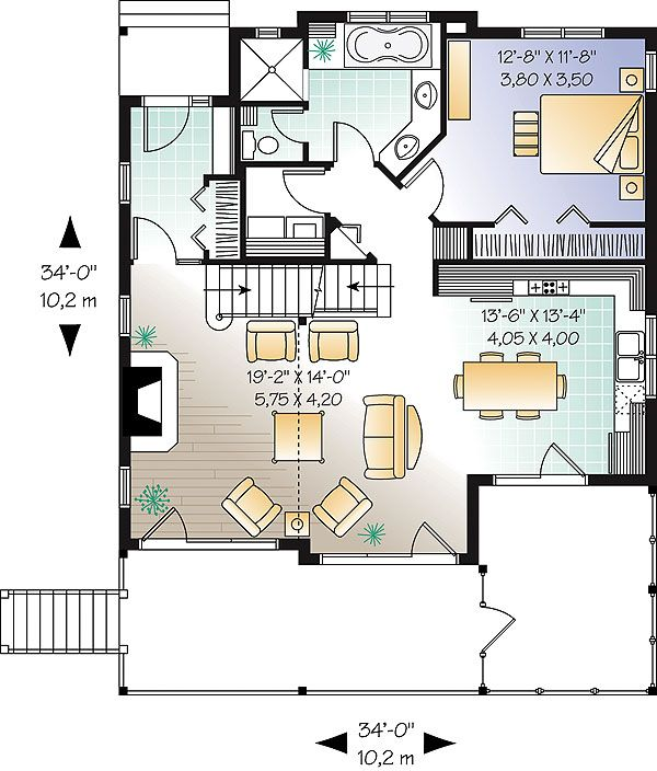 First Level Image Of Wisteria Walk House Plan Cottage Floor Plans Country Style House Plans House Plans
