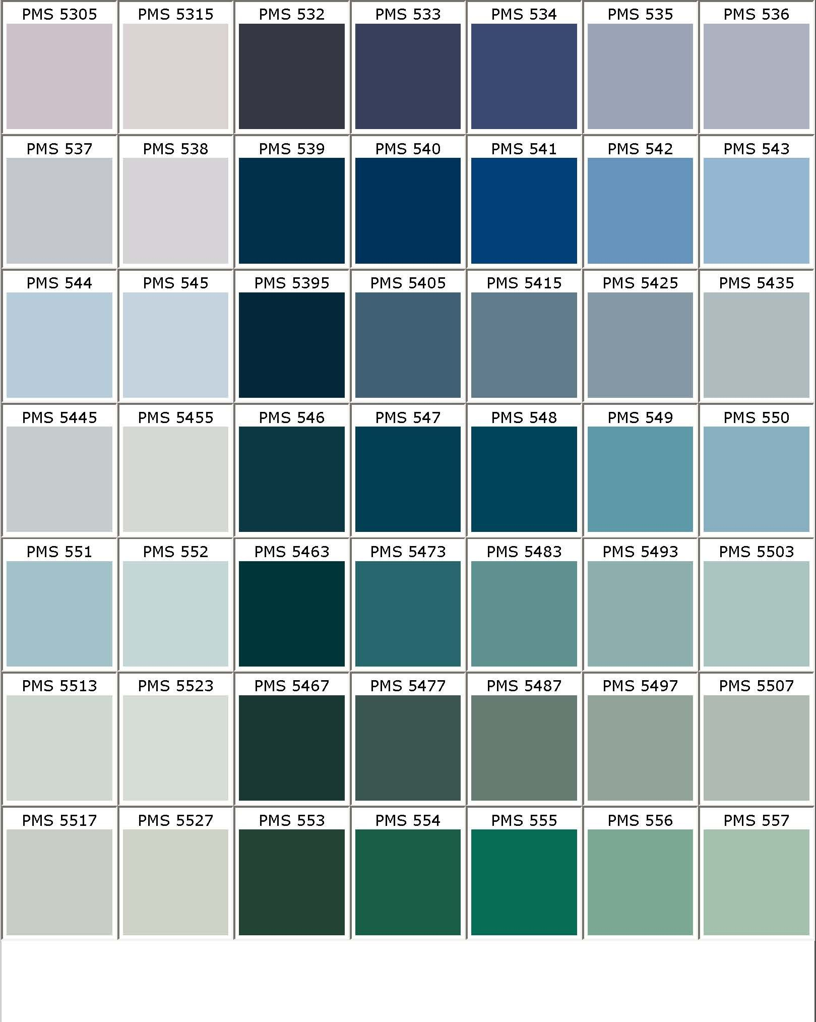 PANTONE Color Chart - PMS | Color My World | Pinterest | Pantone ...