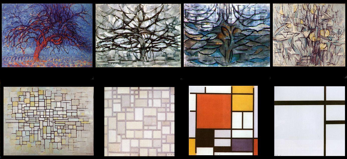 mondrian vs wesselmann essay Patterns grid (figurative) multimedia layering multiple images collage/montage albrecht durer: illuminated manuscript: duccio: georgio de chirico: gustave klimt.