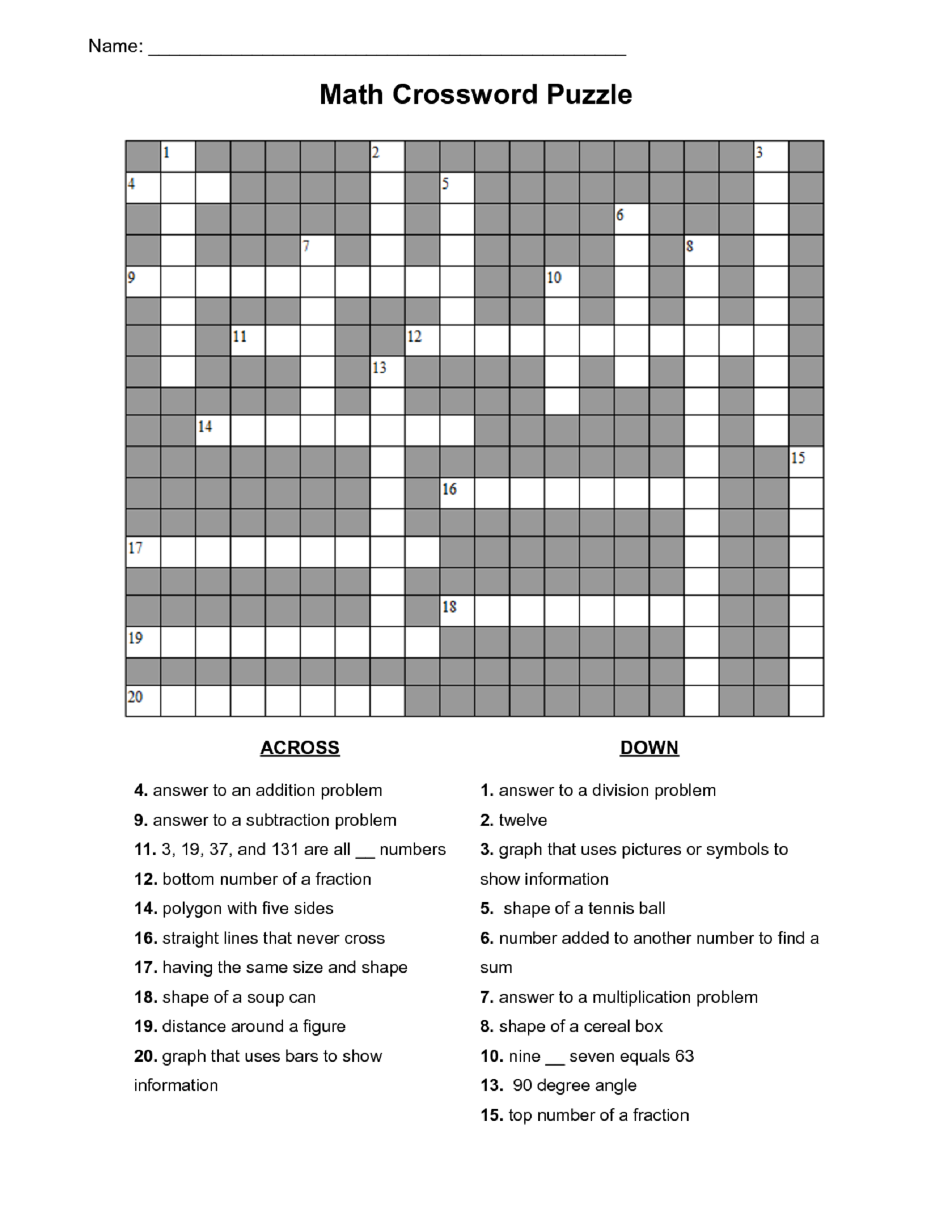 Math Puzzles For Kids For Active Learning