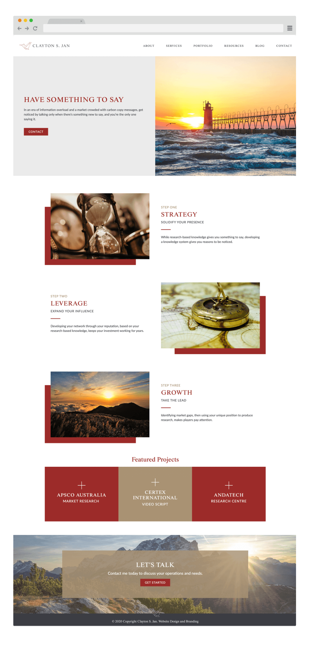 Website Design For Clayton S Jan By Wicky Design Clayton Is A Consultant In Melbourne Australia Website Web