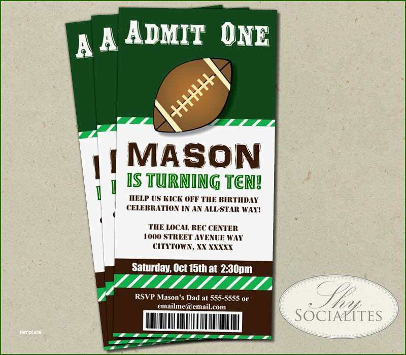 19 Exquisite Football Ticket Invitation Template Free in ...