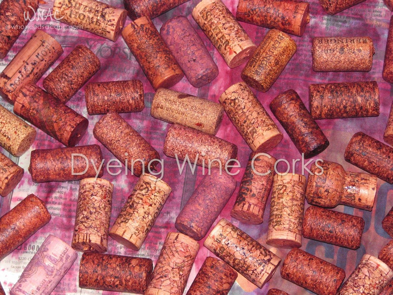 Dyeing Wine Corks Who Needs A Cape Wine Cork Diy Wine Cork Art Wine Cork Diy Crafts