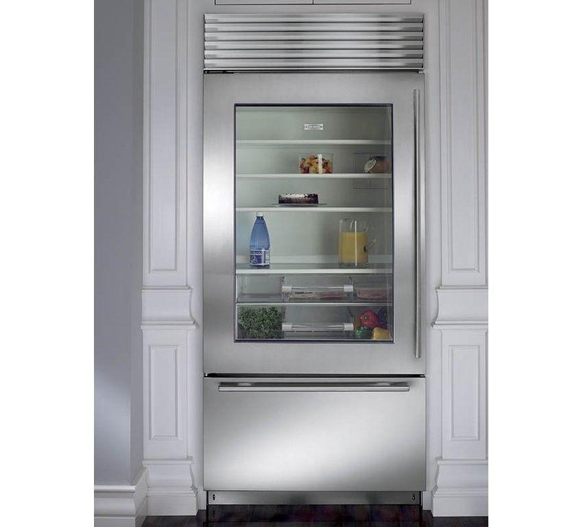 Sub Zero Bi 36ugs Th Rh 36 Glass Door Bottom Mount Freezer