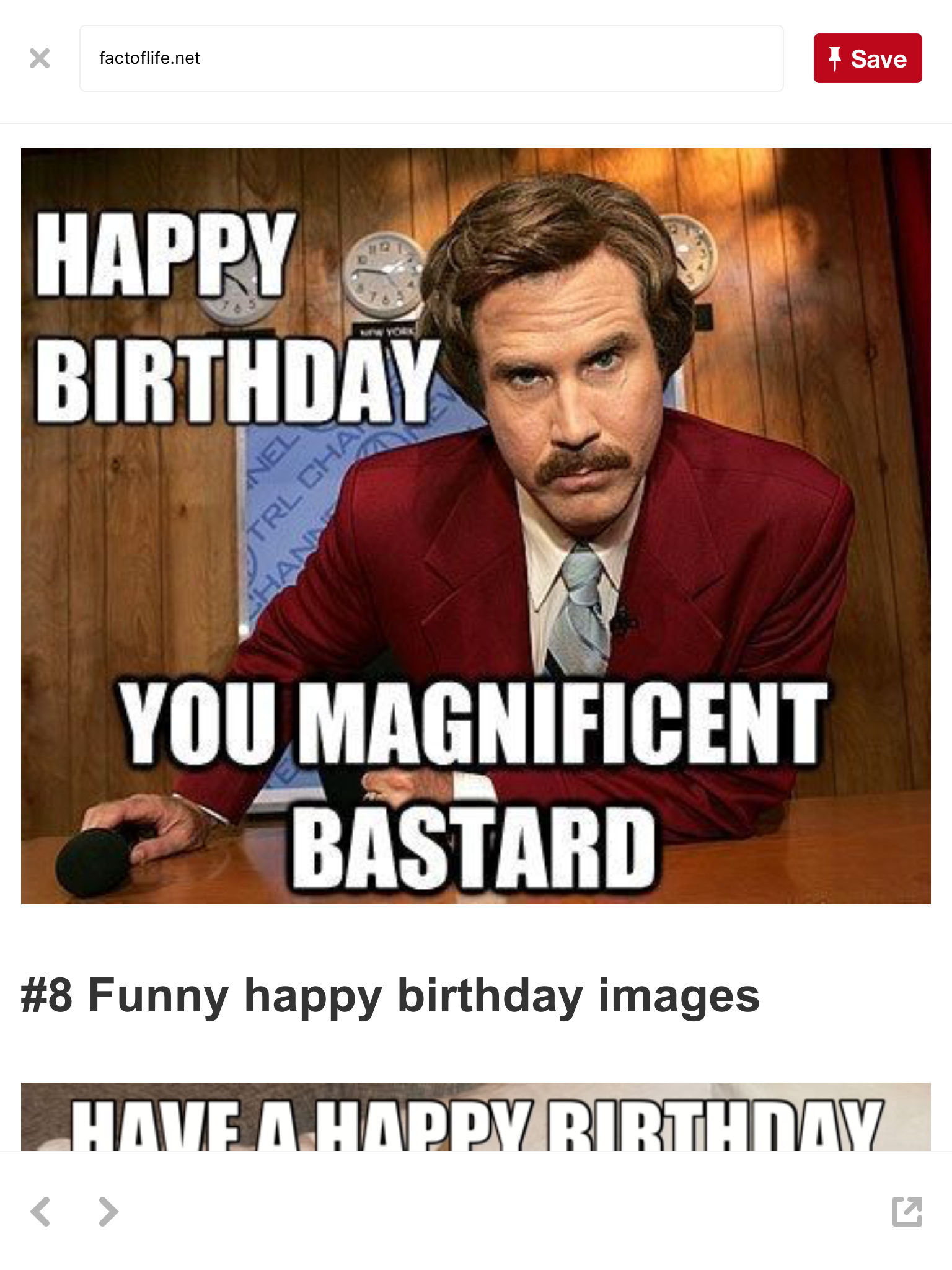 Pin By Helene On Birthday Images Happy Birthday Quotes Funny Happy Birthday Funny Funny Happy Birthday Meme