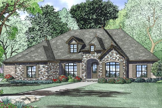 House Plan 17 2497 Ranch House Plans Monster House Plans European House