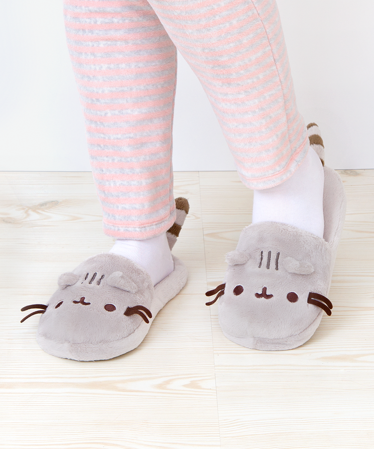 f538d004dde Pusheen the Cat plush slippers IM GOING TO DIE OMG