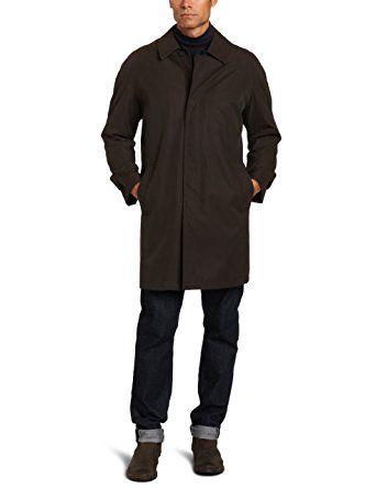 Hart Schaffner Marx Men's Glencove Cotton Blend Raincoat ...