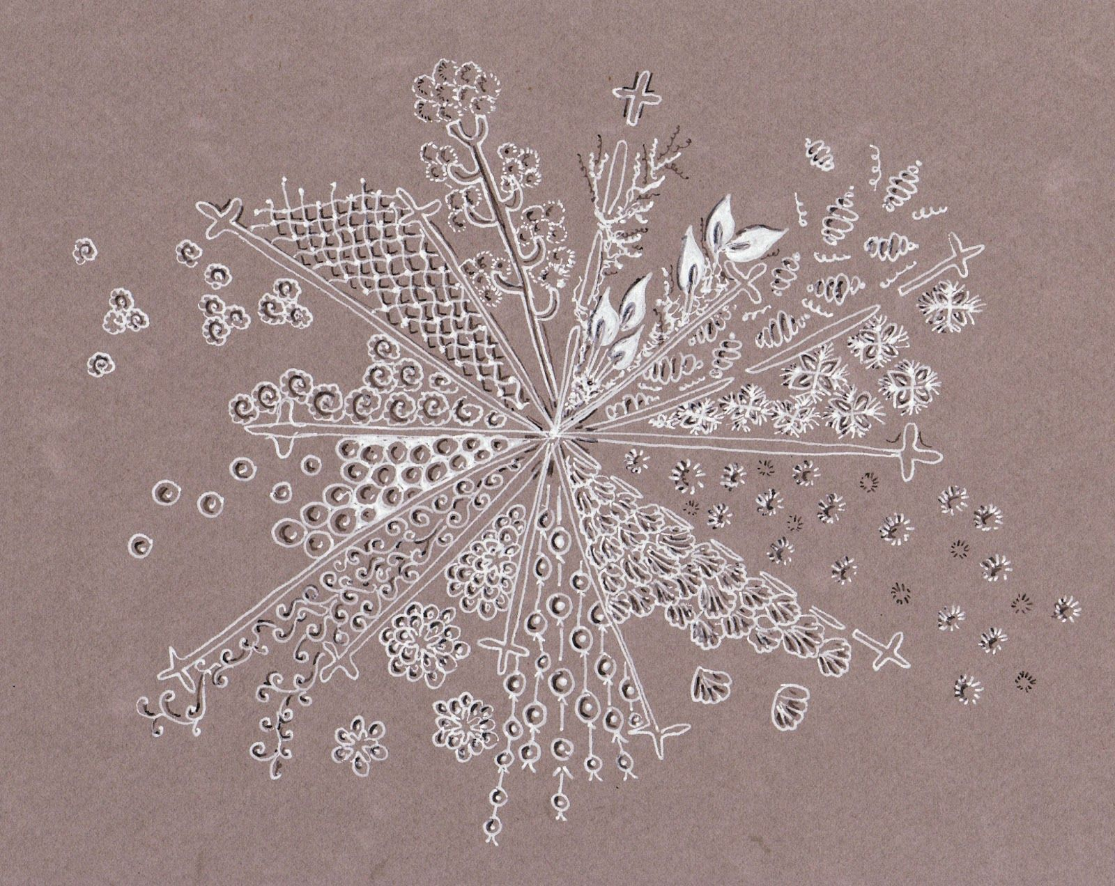 Efie Goes Zentangle Art Tangle Club Sneeuwvlok Sneeuwvlokken Zentangle Patronen Zentangle