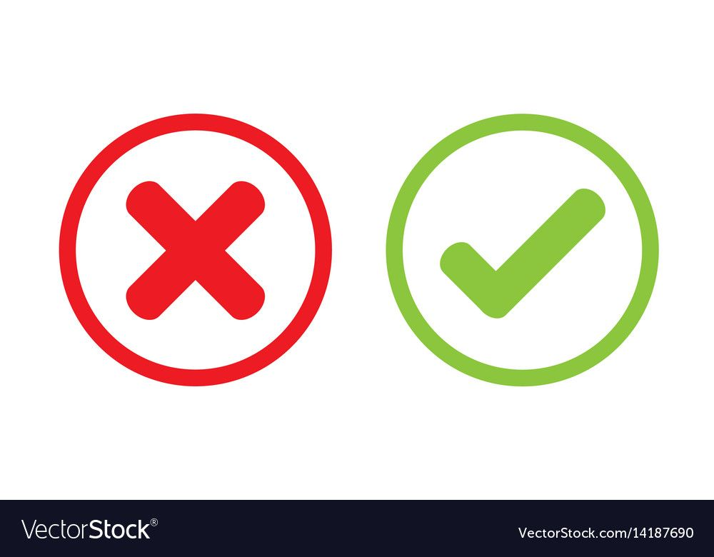 Tick Cross Wrong Vector Icon Design Download A Free Preview Or High Quality Adobe Illustrator Ai Eps Pdf A Kids Cartoon Characters Vector Icon Design Vector
