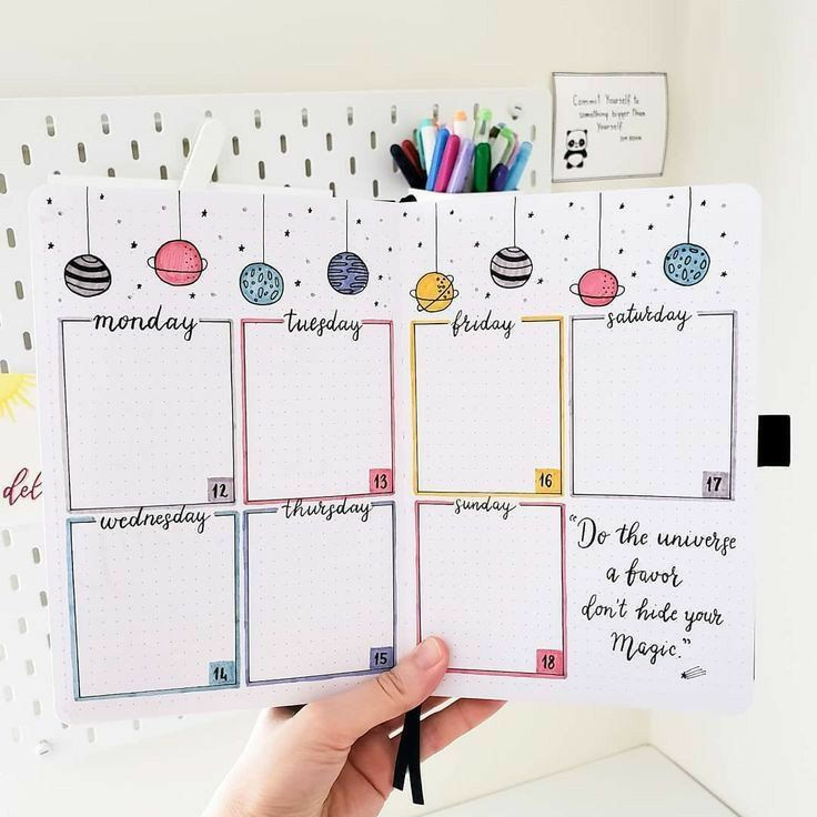 Ideas para tu Bullet Journal