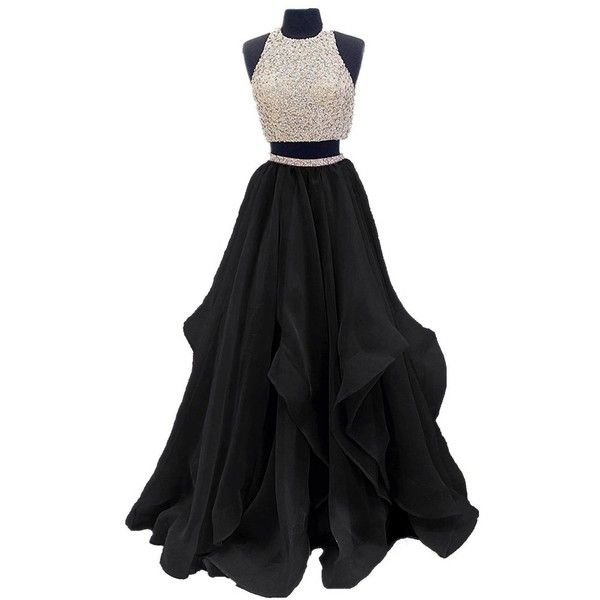 Htys 2018 gradient color prom evening dress beaded ball gown hy044