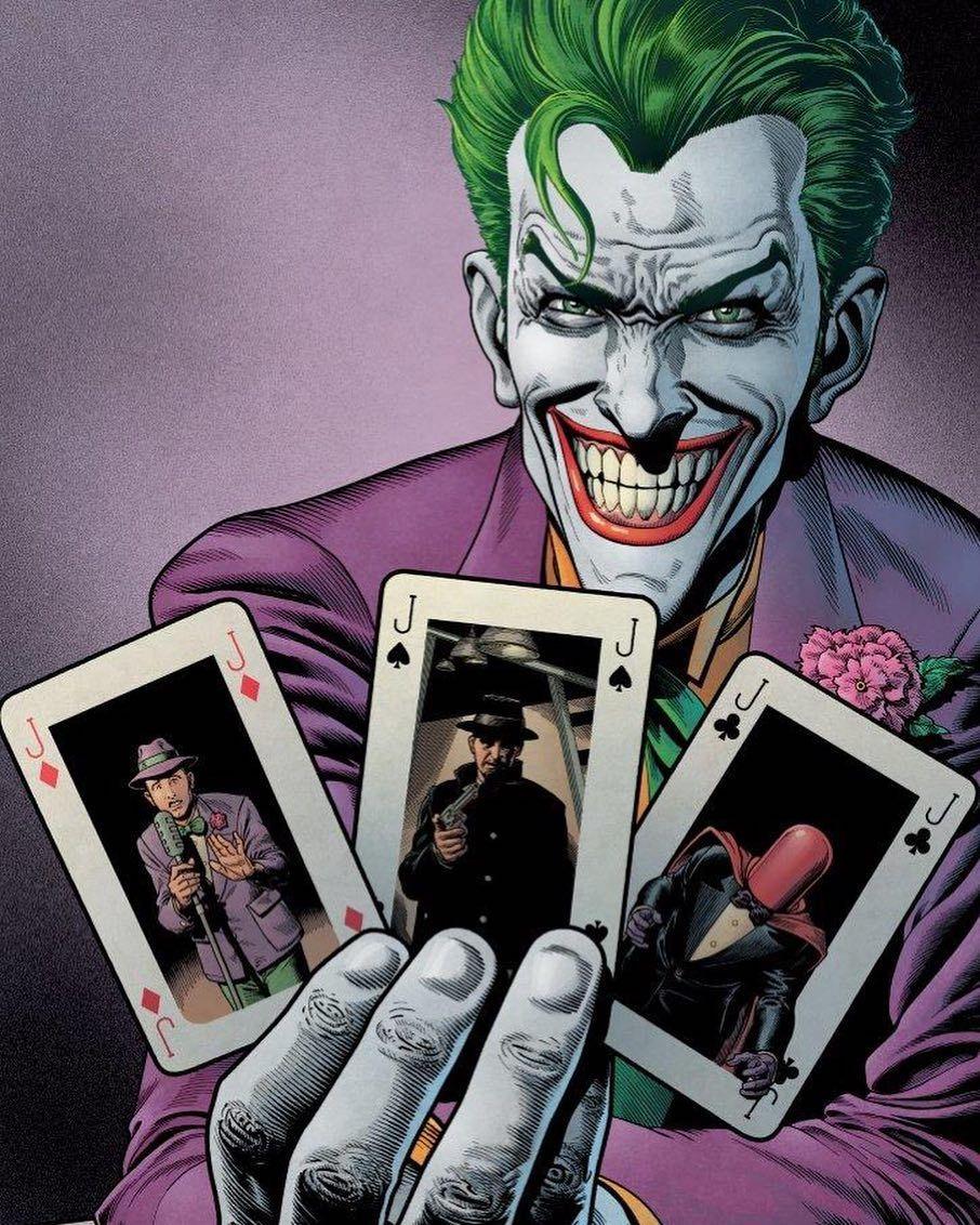 Pick A Card Batman Batmantheanimatedseries Joker Jokeredit Harleyquinn Harleyandivy Kartun Gambar Digital