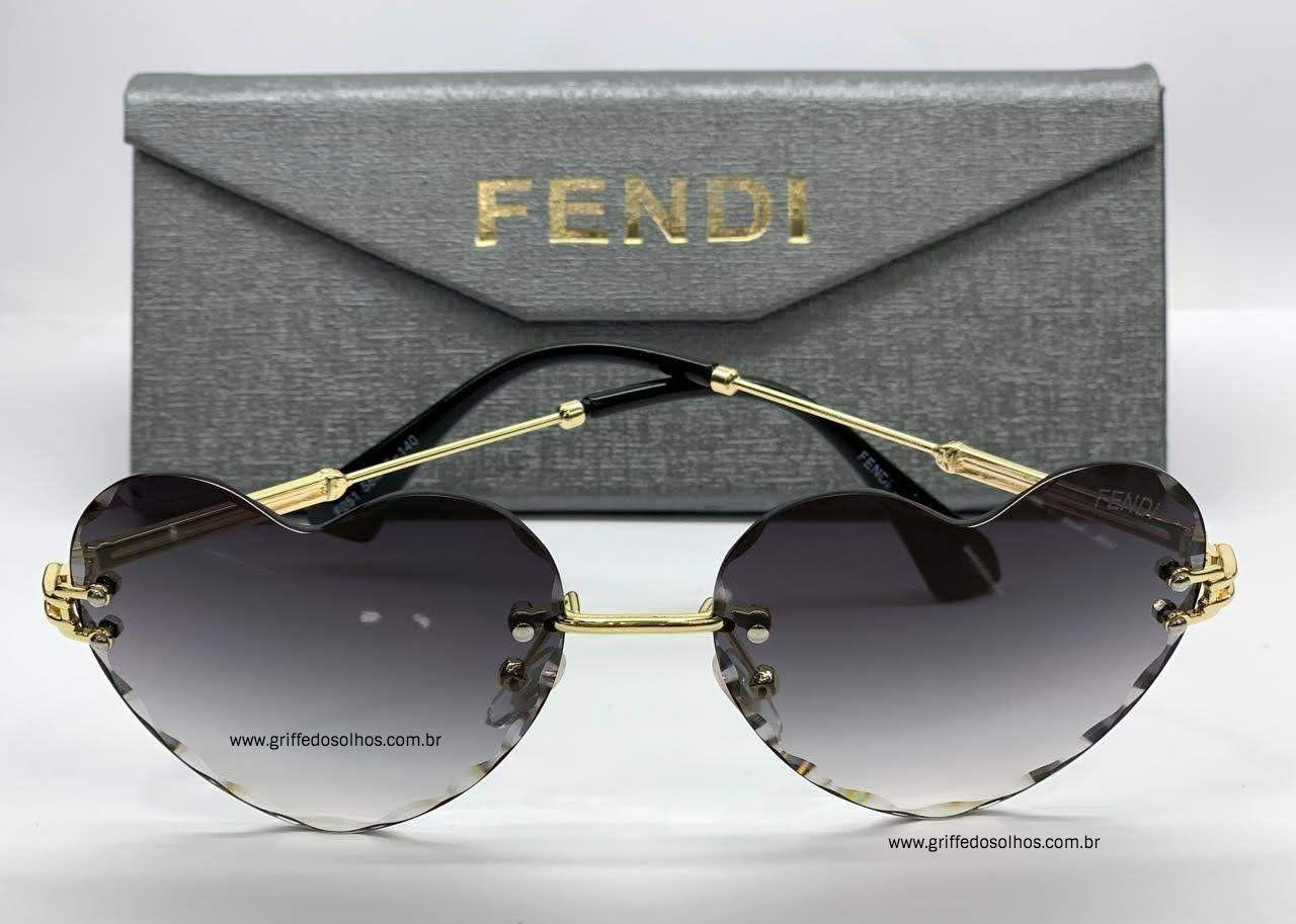 Oculos De Coracao Fendi Tendencia With Images