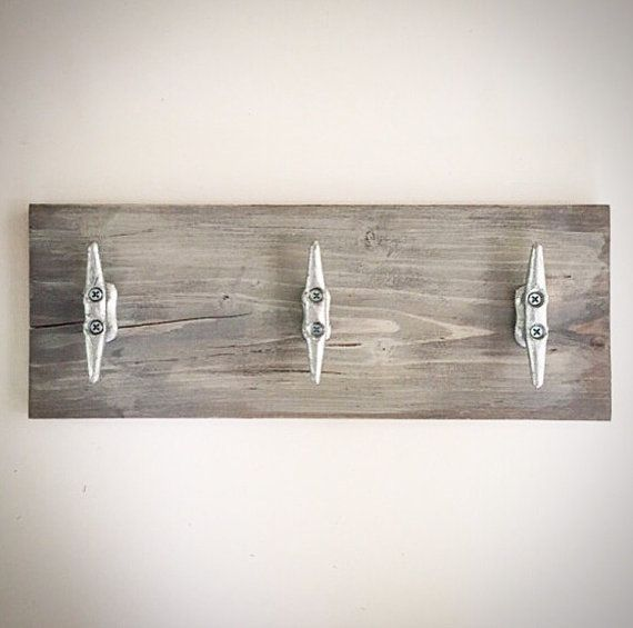 Distressed Wood Dock Boat Cleat Plank Sign Cloud Gray Etsy In 2020 Boat Cleats Nautical Towel Fish Bathroom