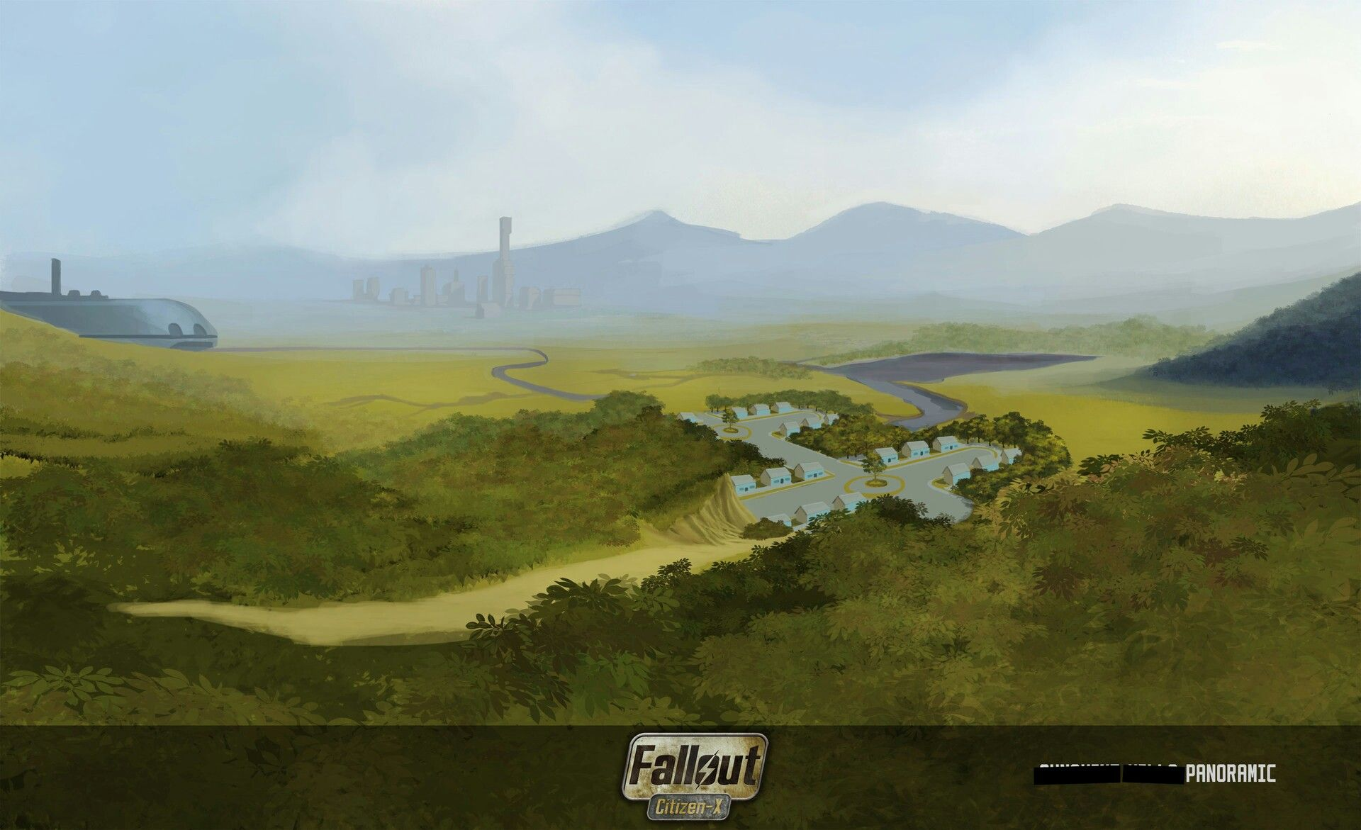 Panoramic concept from Citizen-X overhaul mod  | Fallout