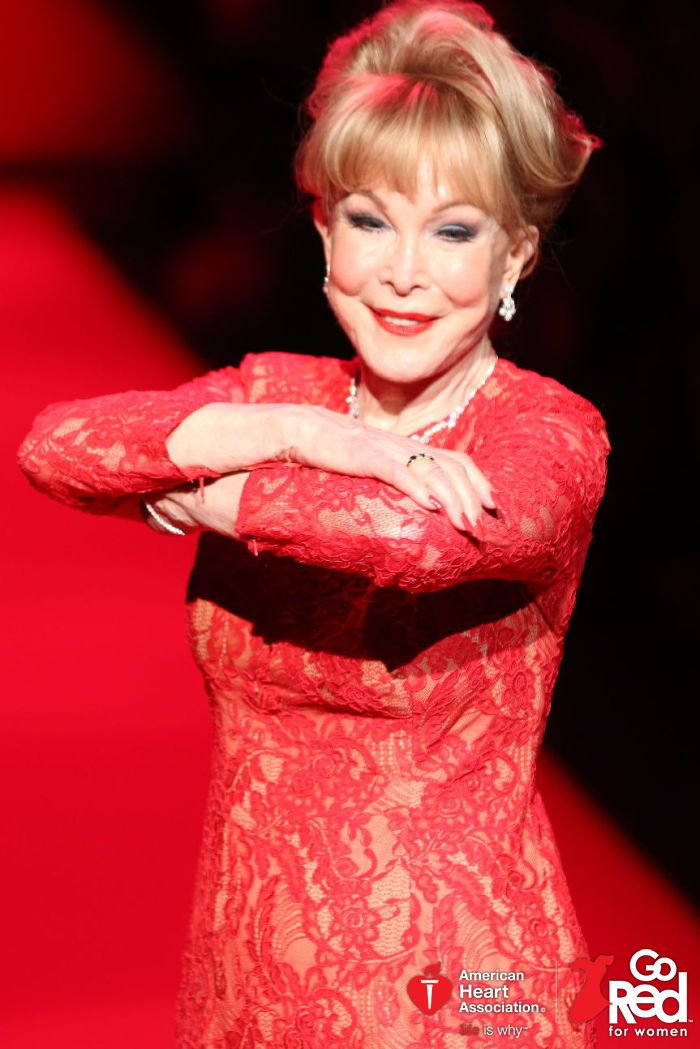 cba8a115494b Barbara Eden - Celebrity Walker in the Go Red For Women Red Dress  Collection 2015 presented by Macy's.