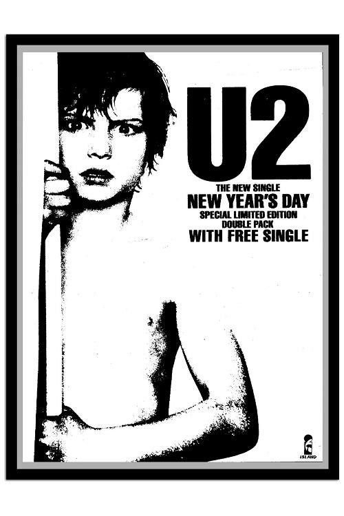 u2 new years day  poster by JustMemorabilia