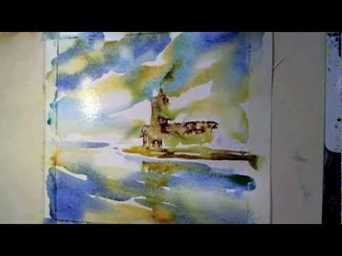 Loose Watercolour Painting at Rutland Water - YouTube
