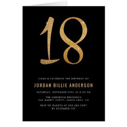 Formal black gold 18th birthday party invitation diy individual formal black gold 18th birthday party invitation filmwisefo