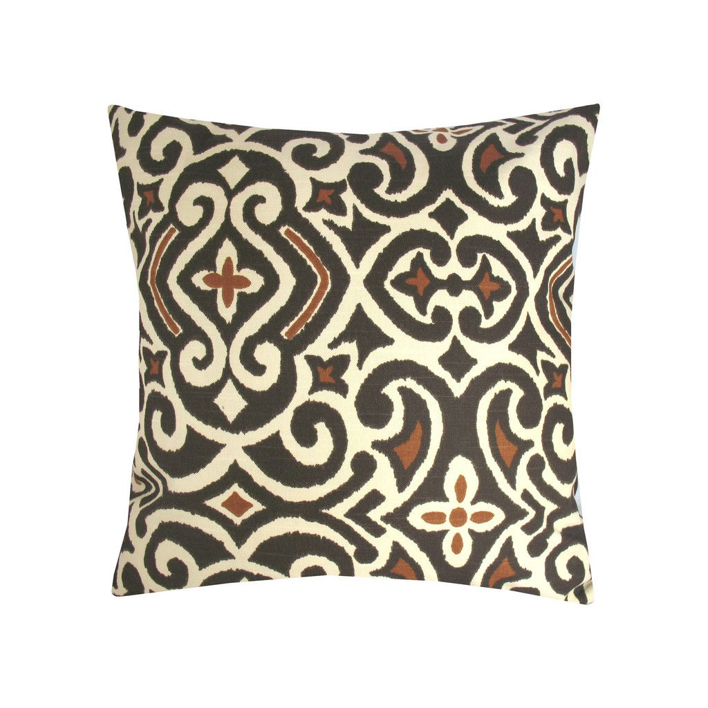 Geo Chocolate Damask Pillow Pillows, Throw pillows
