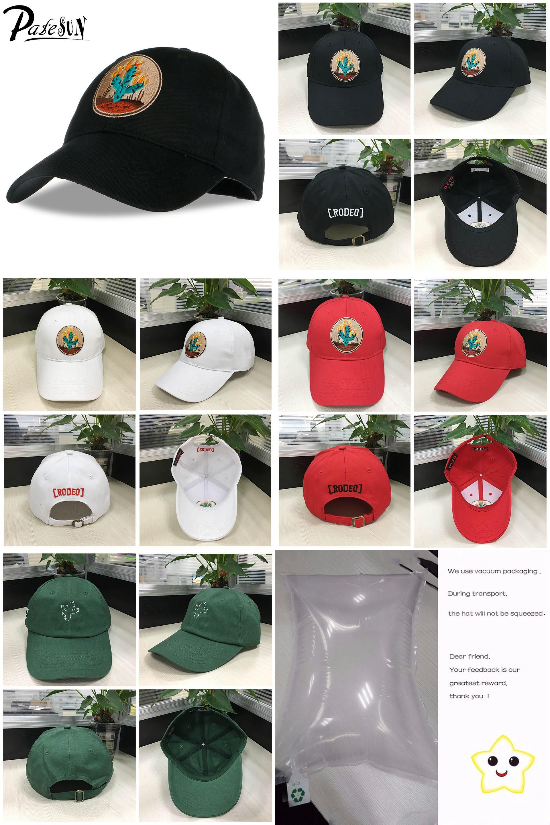 a1ee7b3072f  Visit to Buy  PATESUN 2017 Brand New Cactus Embroidered Baseball Cap Black  6 Panel