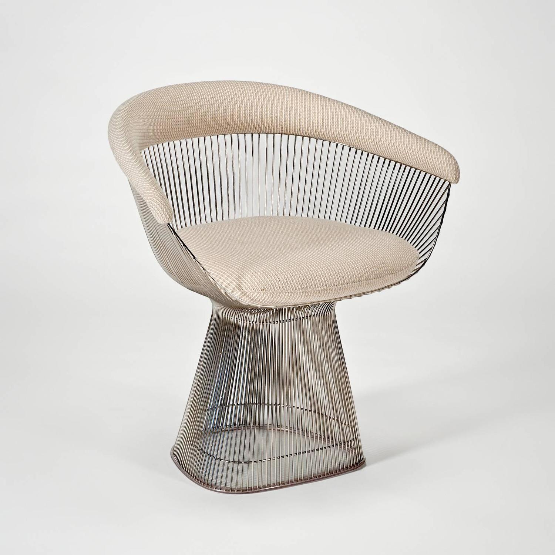 Platner Armchairs (Set of by Warren Platner for Knoll  sc 1 st  Pinterest & Platner Dining Table and Six Chairs by Warren Platner for Knoll ...