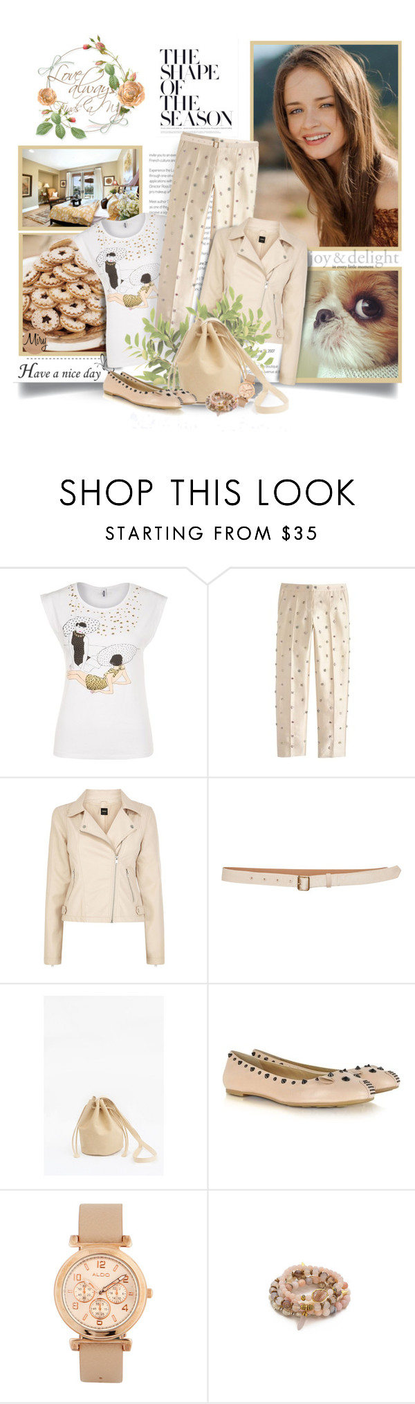 """""""Cool Style"""" by thewondersoffashion ❤ liked on Polyvore featuring Have a Nice Day, Moschino, J.Crew, Oasis, Rochas, Marc by Marc Jacobs, ALDO and Lacey Ryan"""