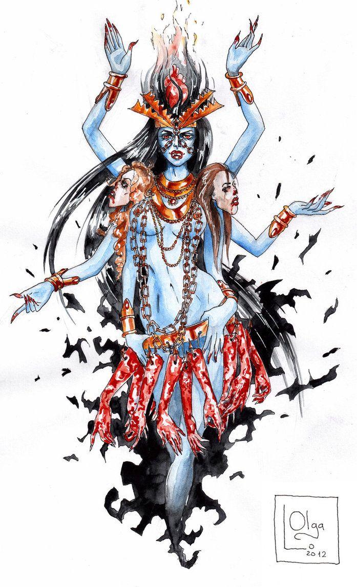 Deviant Art Kali Ma Google Search Diosa Kali Dibujos