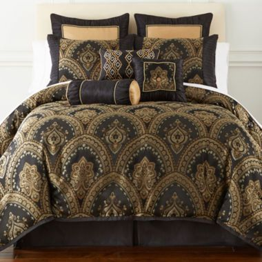 Home Expressions™ Yorkshire 7-pc. Damask Comforter Set & Accessories ...