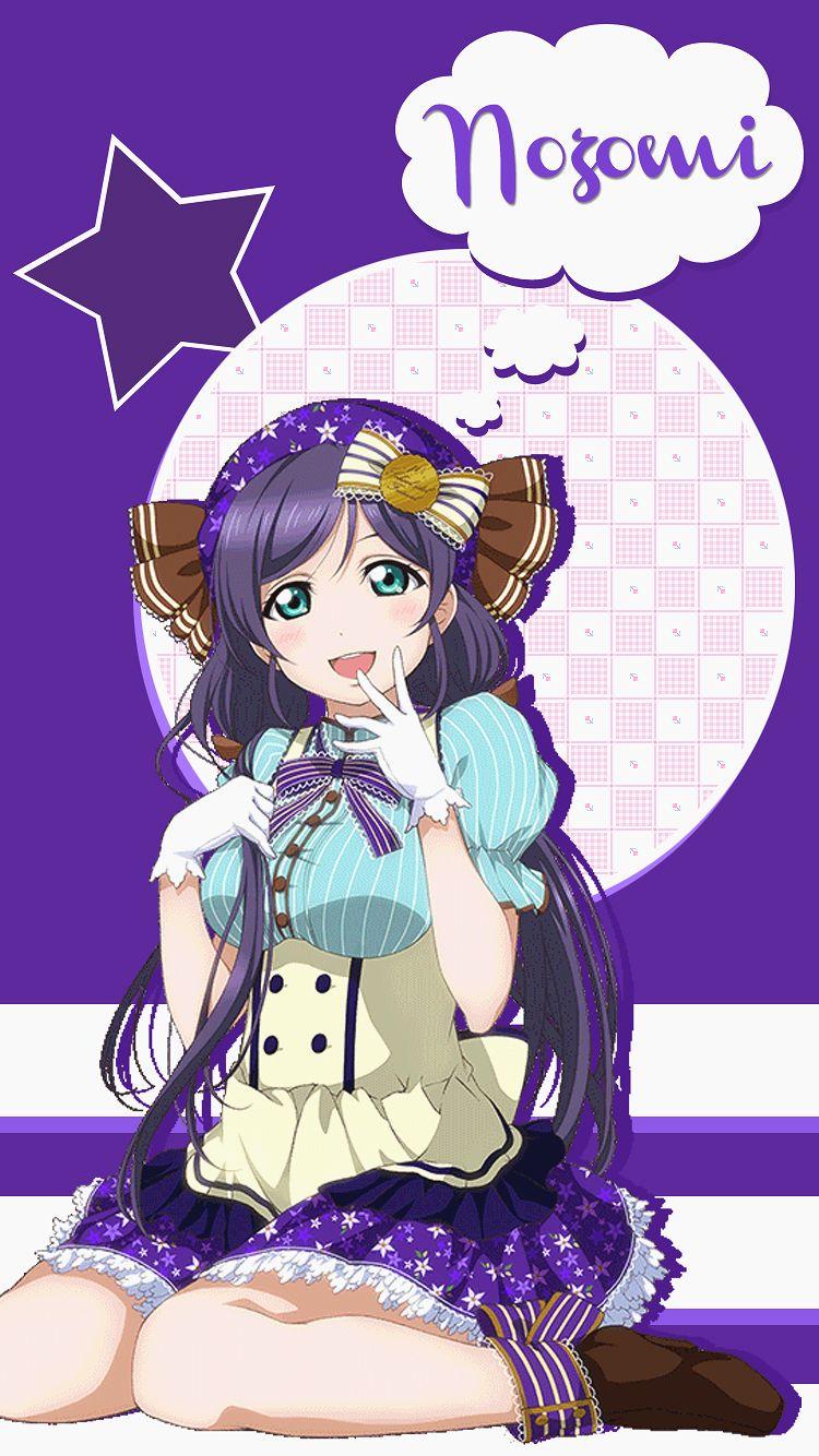 Tojo Nozomi Lock screen in 2019 Cute anime wallpaper