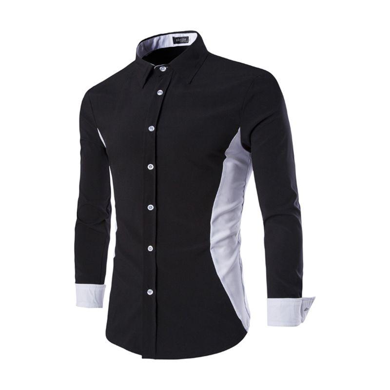 Fashion-Design-Men-Shirt-Korean-Slim-Fit-Mens-Dress-Shirts-2016 ...