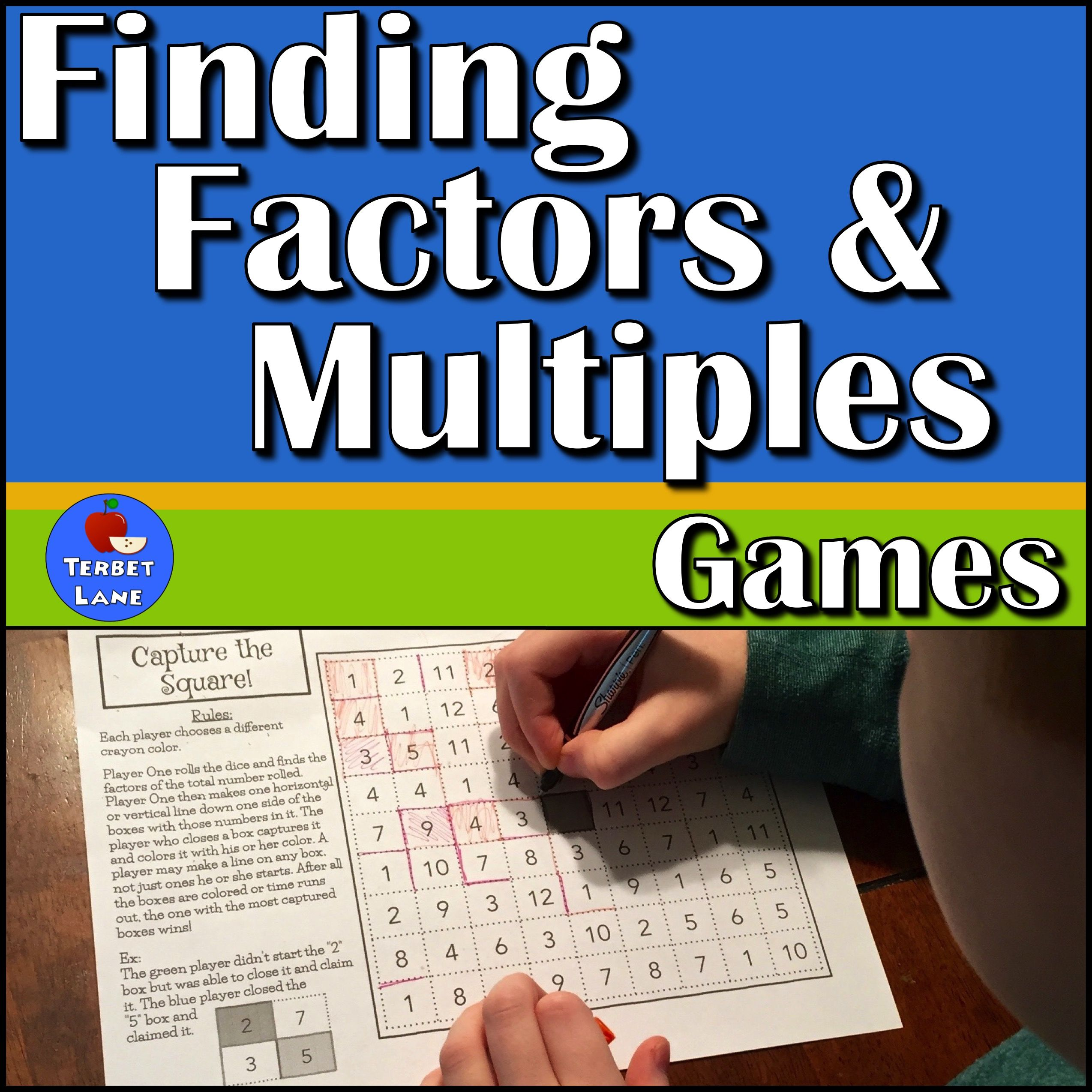 Finding Factors And Multiples Math Games From Terbet Lane