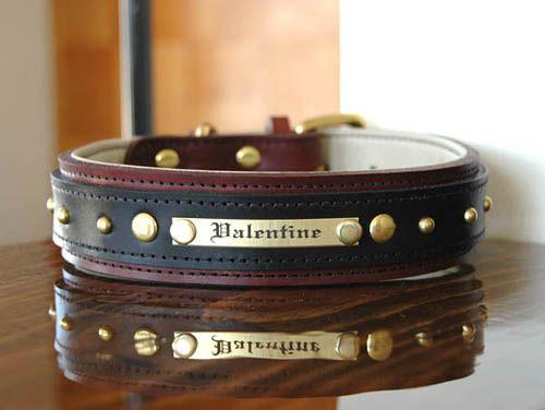 California Collar Co Custom Leather Dog Collars 1 5 B C Nameplate