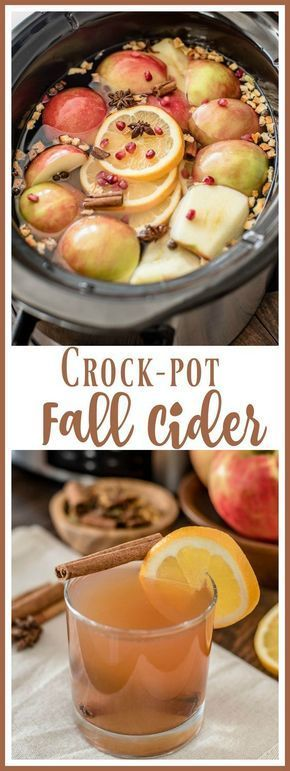 The perfect fall drink! This apple cider recipe is made with fresh apples, oranges, and pomegranates for a delicious way to usher in fall. via Almost ... - -