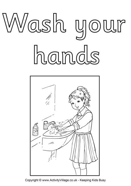 Wash Your Hand Colouring Poster Pdf Link