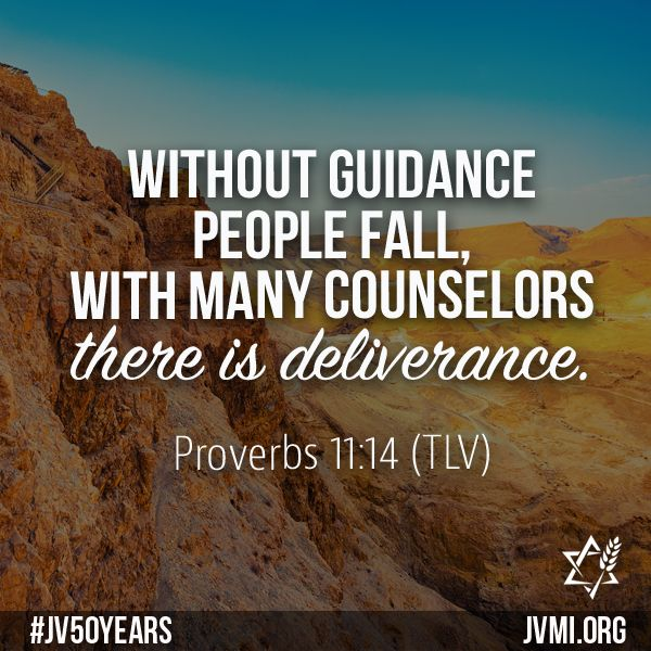 Without guidance people fall, with many counselors there