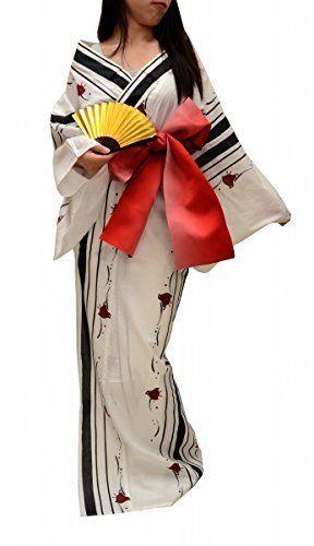 f6392874f274 Geisha Sexy Kimono Robe Yukata Womens Japan Japanese Anime Mt.fuji Hitotoki  http