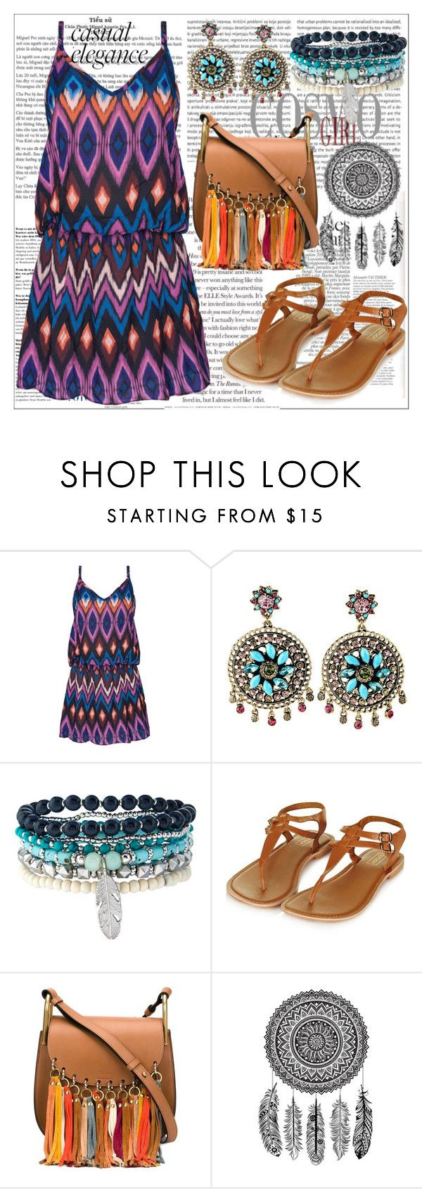 """""""Ethnic Style,Summer"""" by nickooe-zhou ❤ liked on Polyvore featuring Oris, Triya, Accessorize and Chloé"""