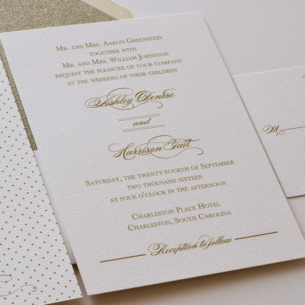Gold Wedding Invitations Gold Wedding Belly Bands And Invitation