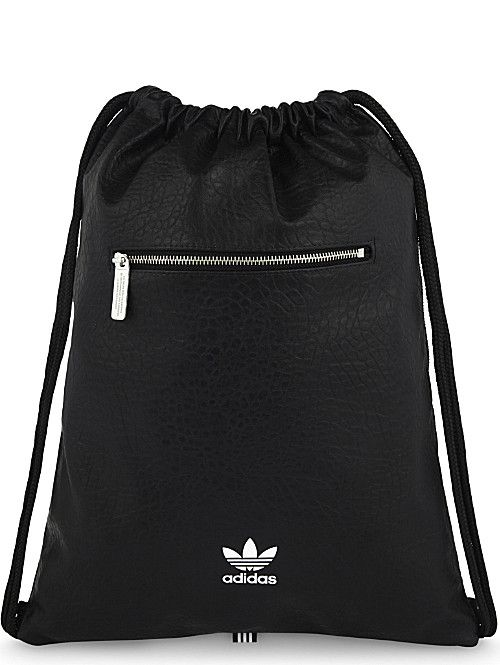 7598cb0d2312 ADIDAS ORIGINALS Trefoil faux-leather extra-large drawstring backpack