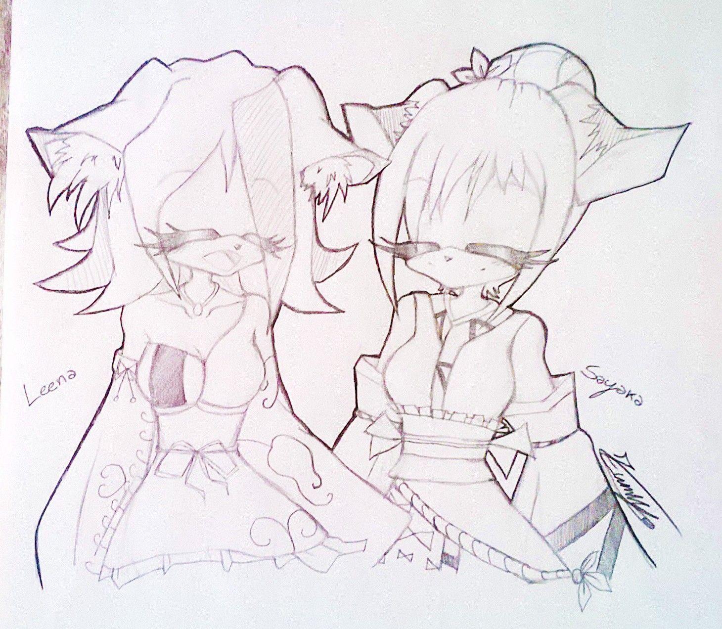 Smile...always ❤ Art by @Zumiya73 (Lissa belongs to my friend, Sayaka belongs to me) | A little gift for my dear friend :3 ♡