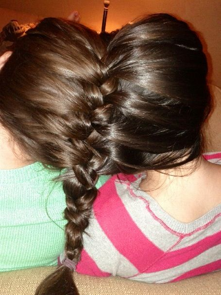 hair braided . friend