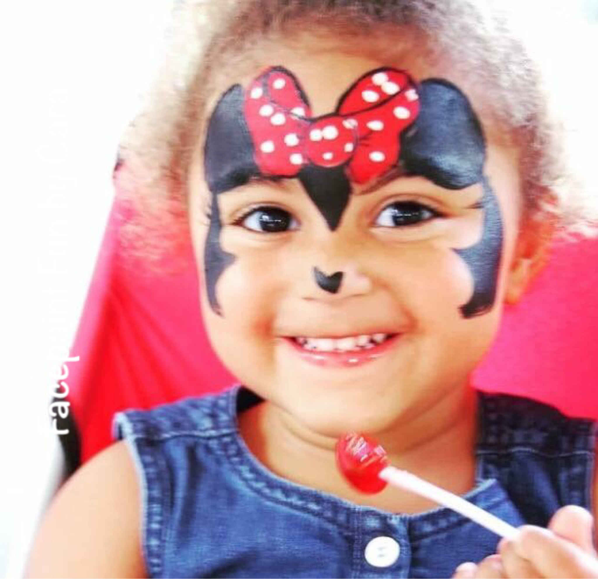 Minnie Mouse face paint ears bow face painting | Minnie ...
